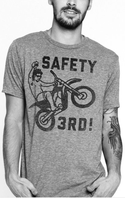 Safety Third Tee The Chivery T shirt, Mens tees, Tees