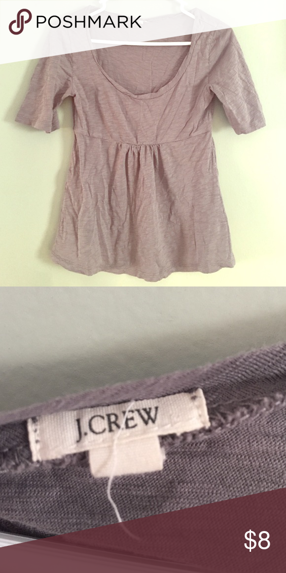 Women's J Crew Top Comfy women's top from J Crew size S. Tighter around the chest and flowy on the bottom. J. Crew Tops