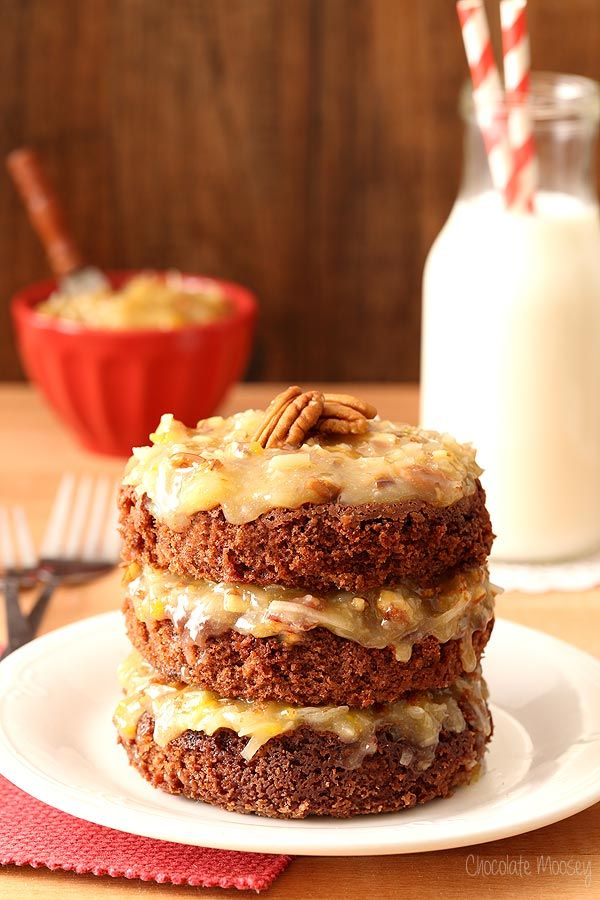 Mini German Chocolate Cake For Two + Giveaway by Chocolate Moosey