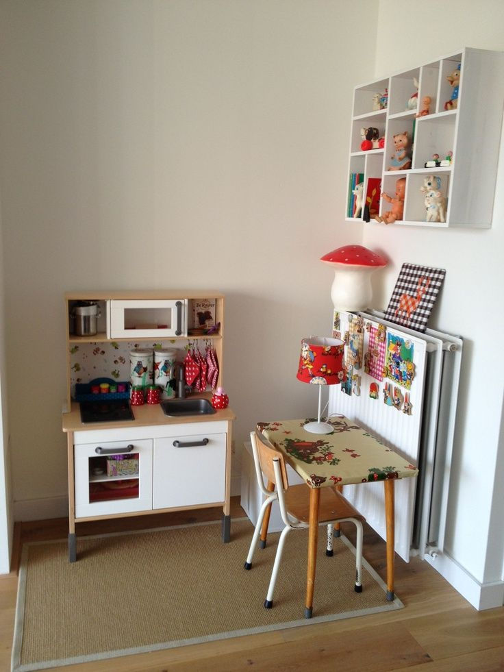 kitchen, love the oilcloth covered desk | Kids corner ...