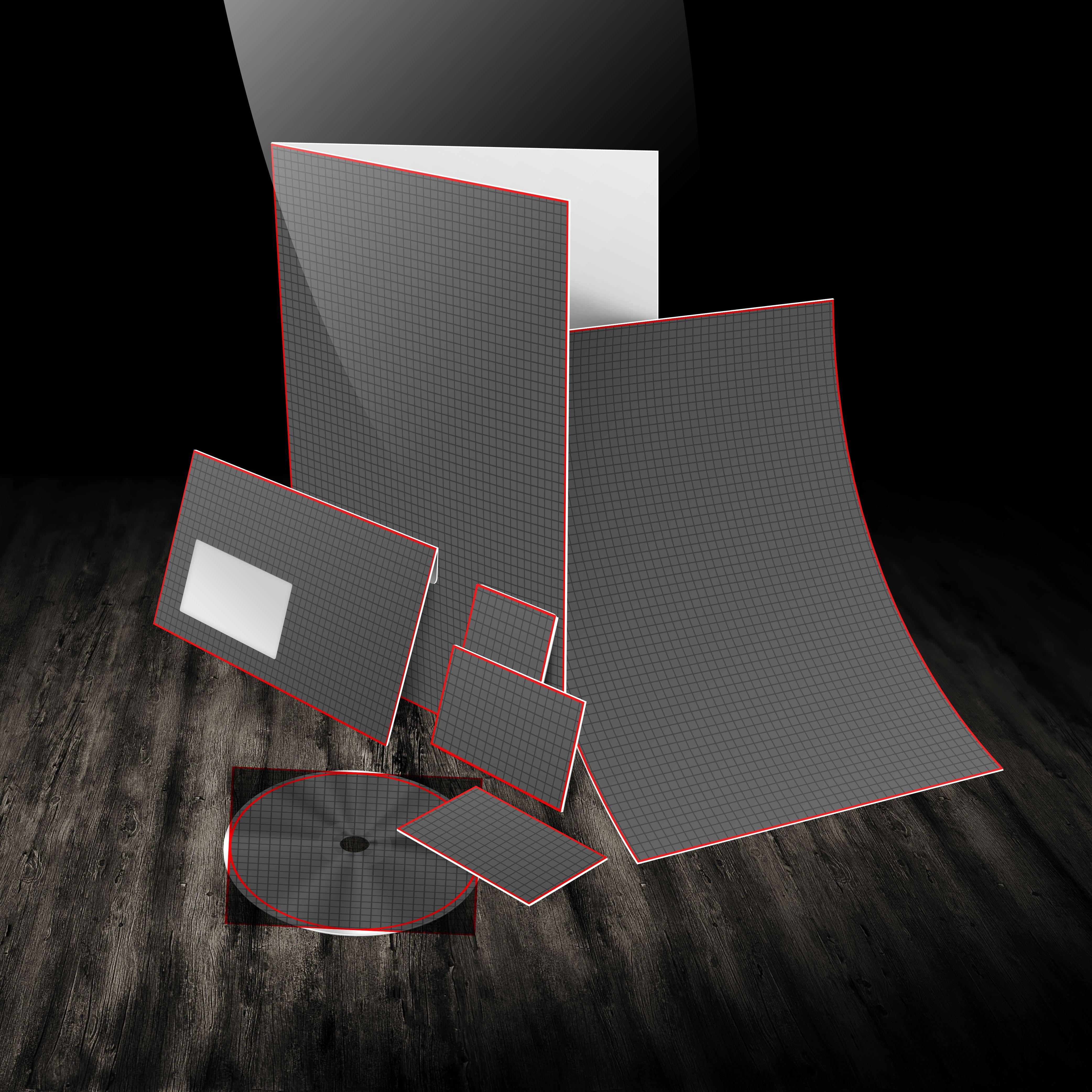 Translation House Corporate Stationery Design: Business Stationary 3D Mockup