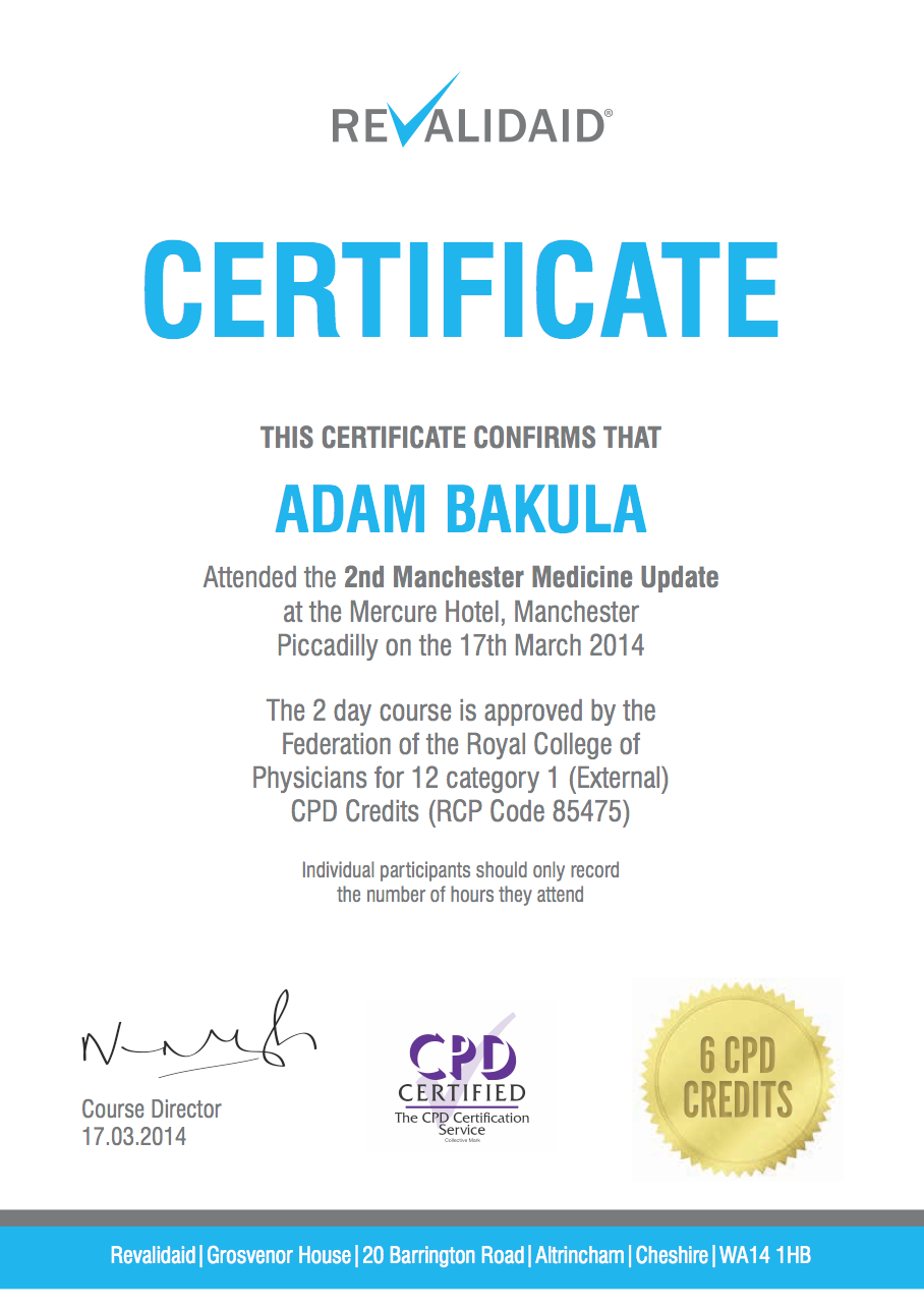 One Of My Own For A Medical Conference Certificate Certificate