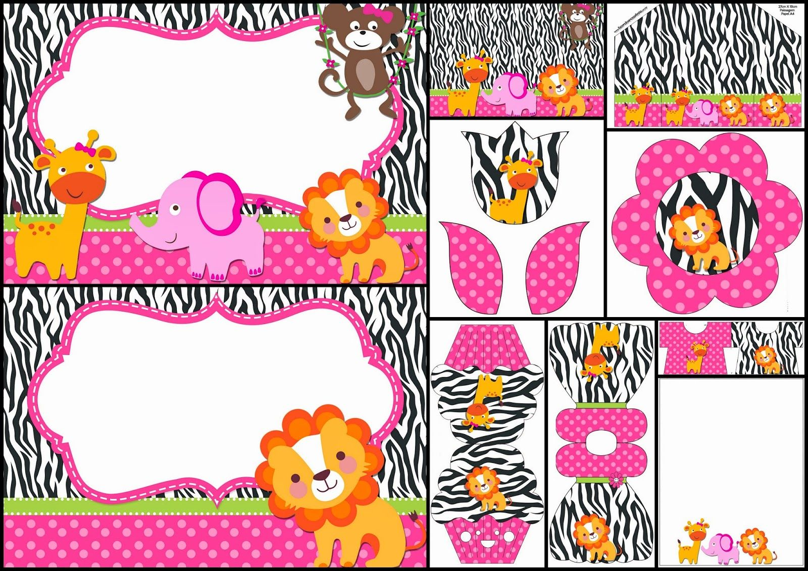 Bingo Show Dia De La Madre Viernes 11 De Mayo: The Jungle For Girls: Free Printable Invitations.
