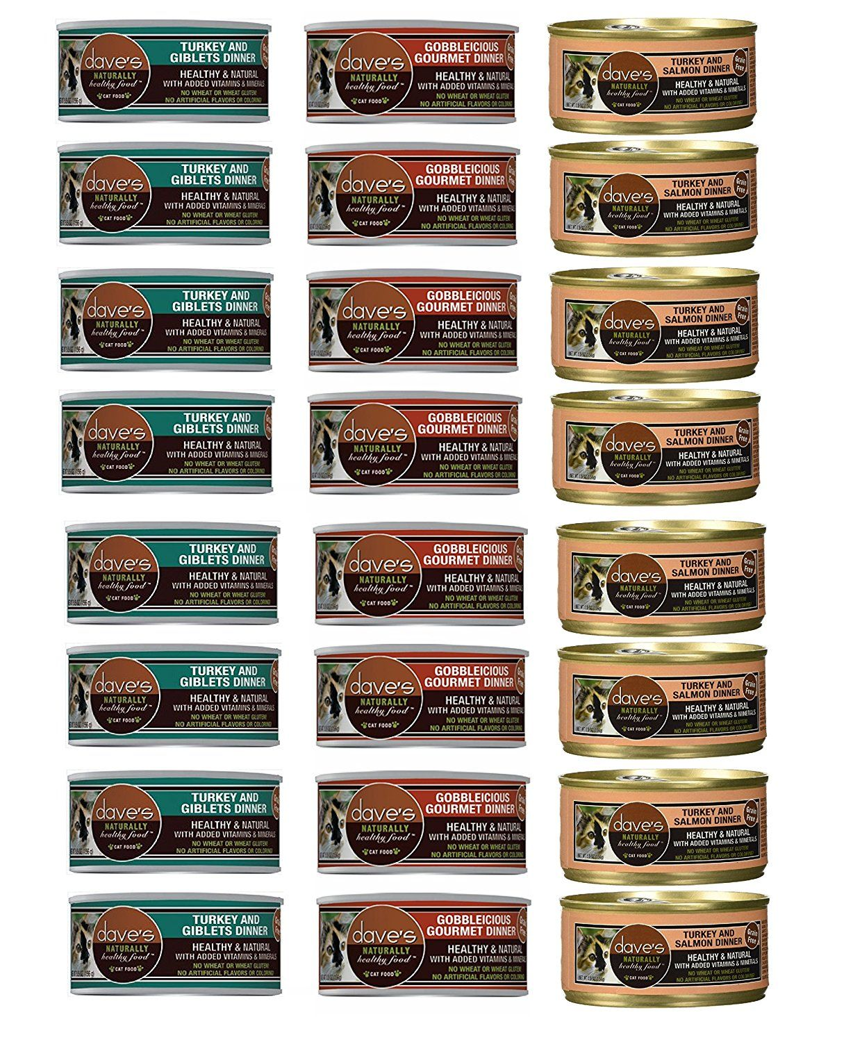 Dave's Pet 5.5oz Cat Food Variety Pack (Case of 24