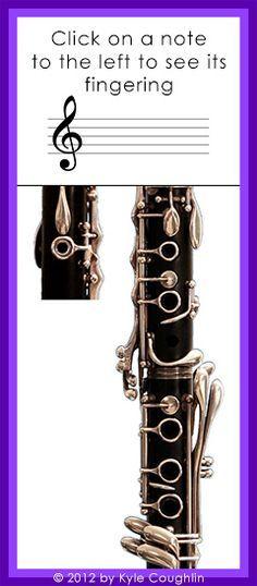 Blank Clarinet Fingering Chart Image  Clarinet