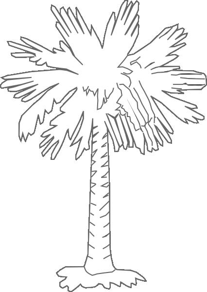 South Carolina Palmetto Logo Palmetto Tree Clear Clip Art Tree Coloring Page Palmetto Tree South Carolina Art