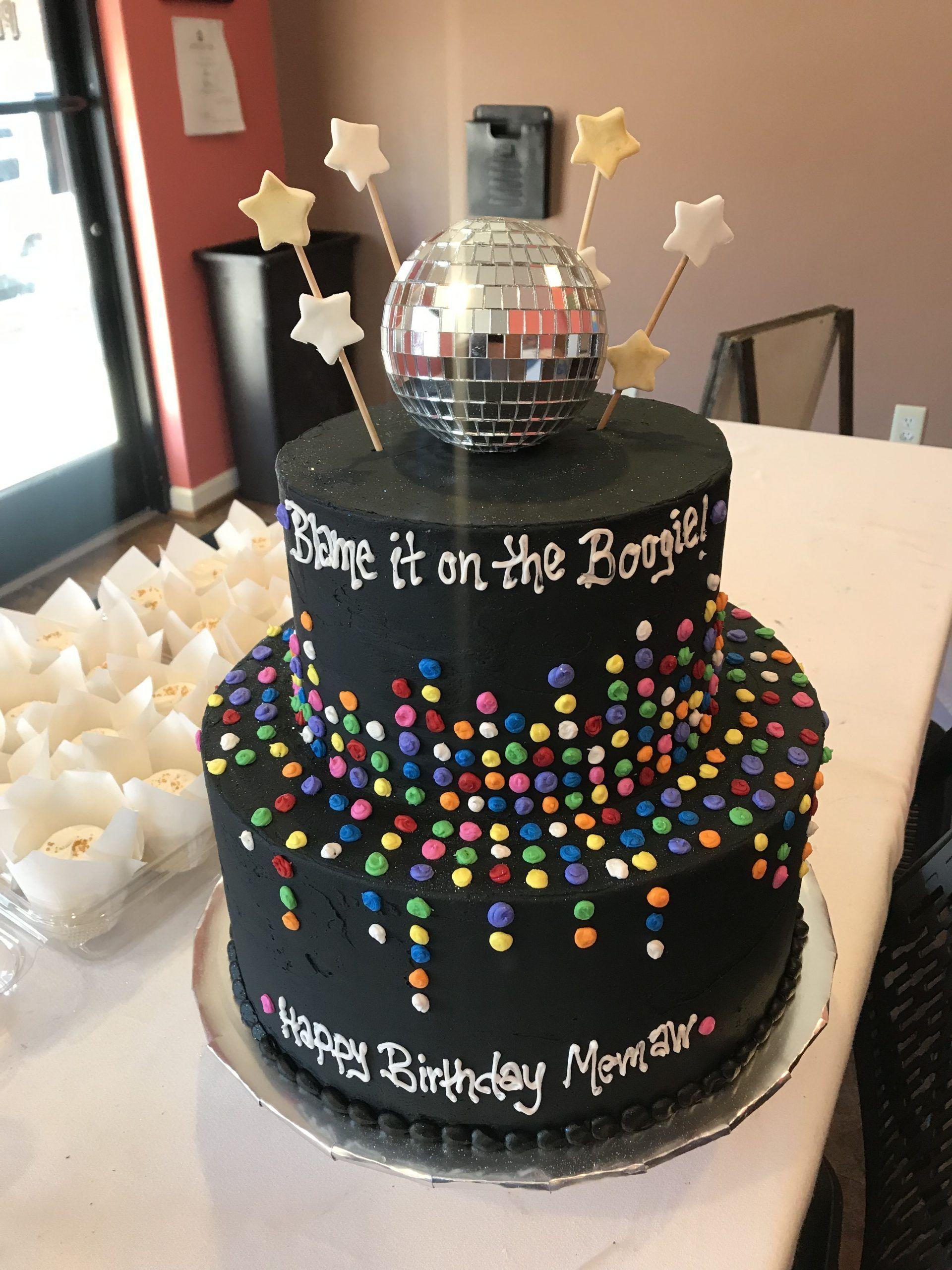 Disco birthday cake#birthday #cake #disco