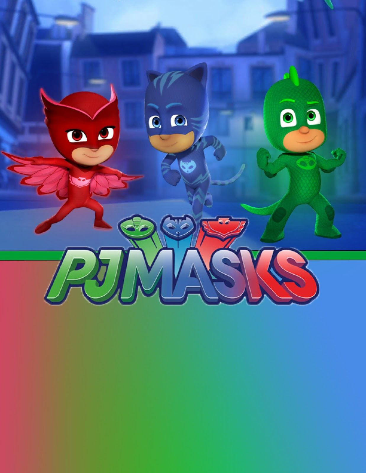 FREE PJ Masks birthday party printable files Invitations | Kids ...