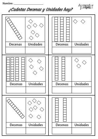 Decenas y Unidades | Matemáticas | Pinterest | Decenas, Actividades ...