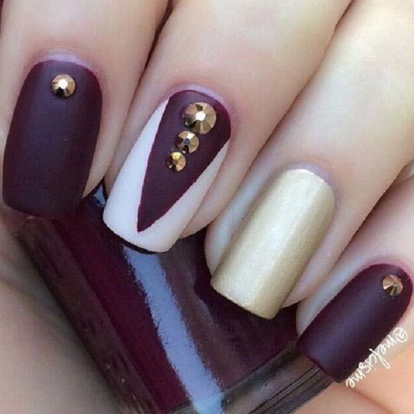 35 maroon nails designs maroon nails nail art and nails 35 maroon nails designs prinsesfo Images
