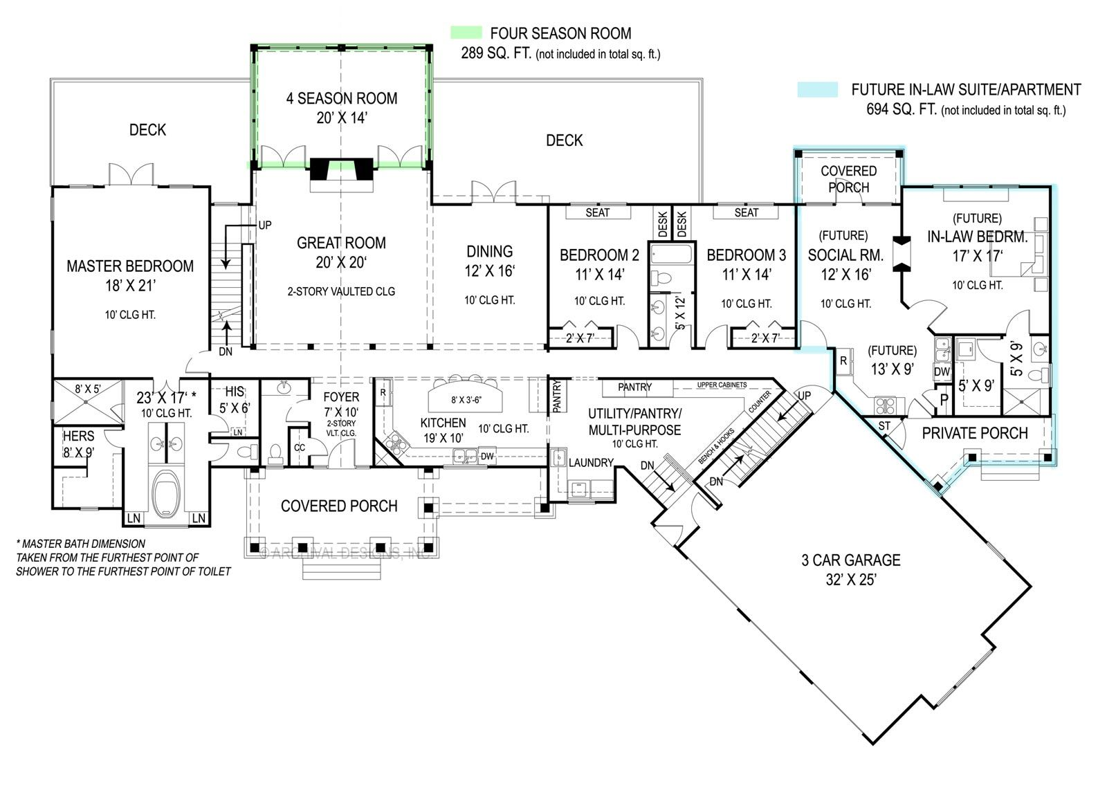 house plan 9020 features a full in law apartment with private