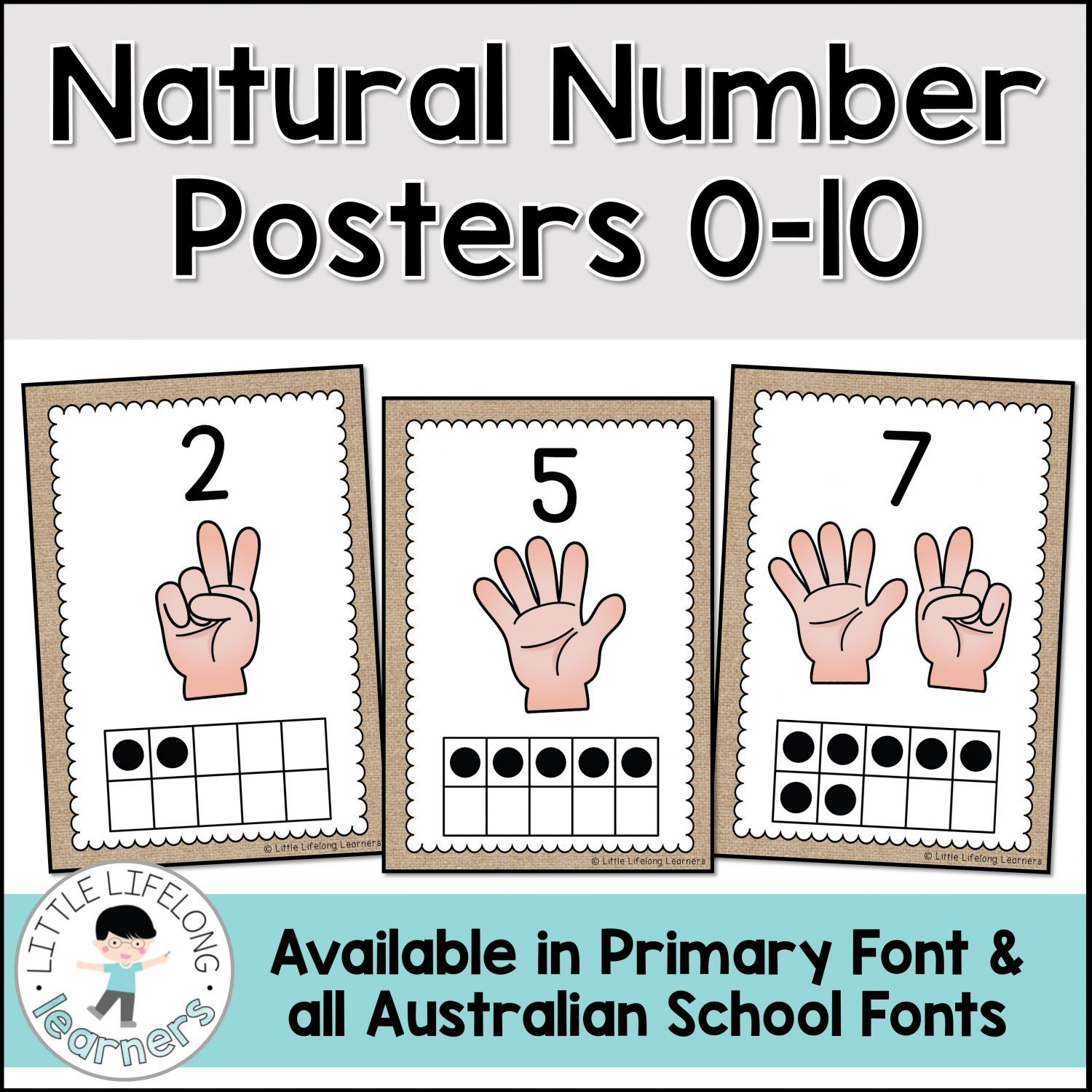 Set Up An Inviting Natural Number Display With These Burlap Numeral Posters Your Kindergarten And Number Poster Numbers Kindergarten Kindergarten Number Cards [ 1500 x 1500 Pixel ]