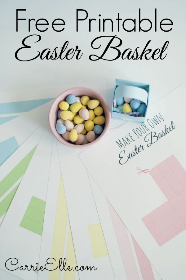 Printable Easter Basket Templates and a Hershey\'s giveaway ...