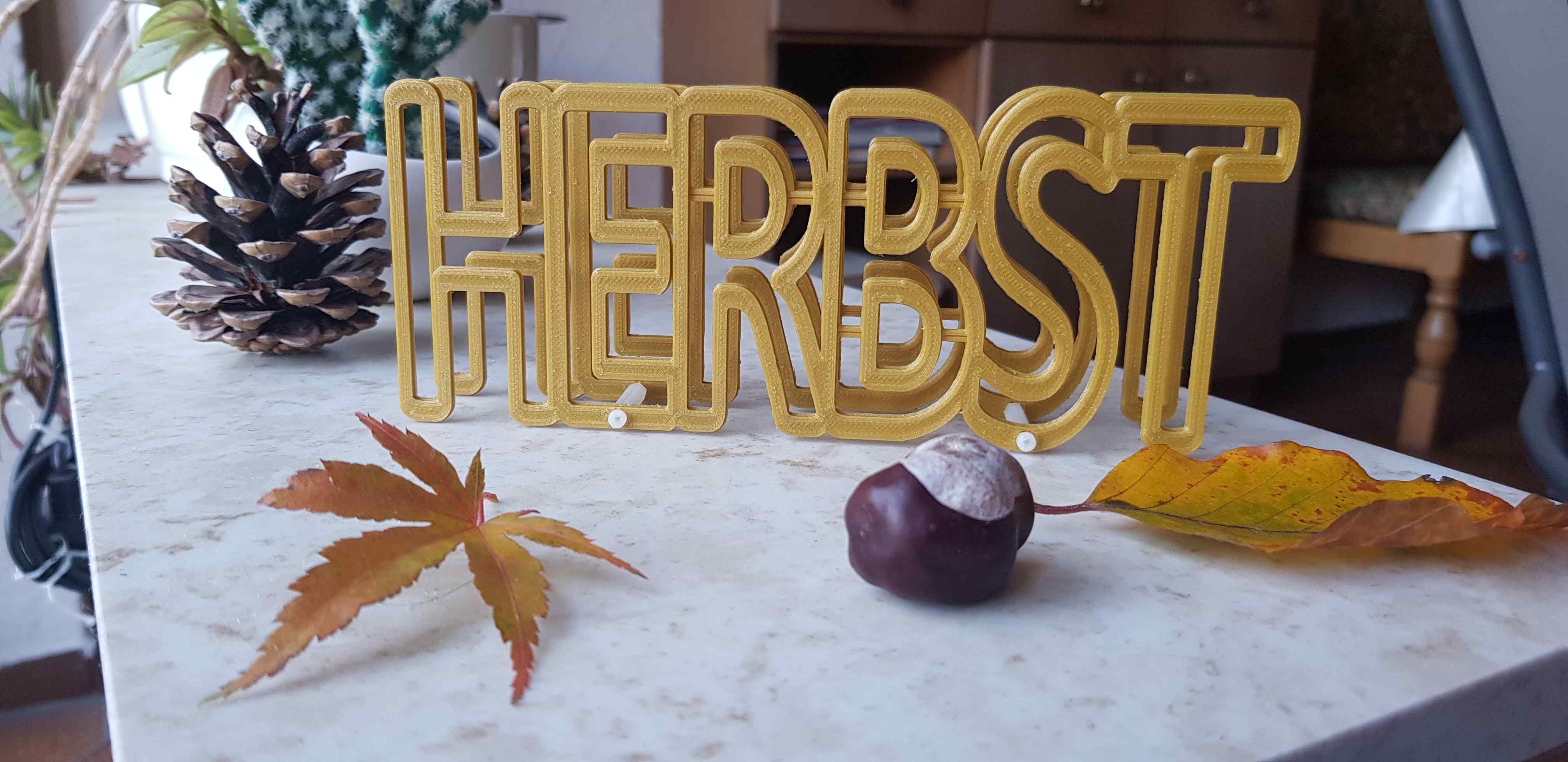 HERBST 3D-Tischdeko #tischdekoherbstesstisch