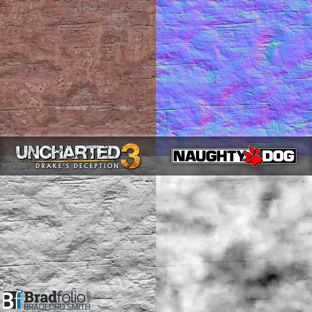Artstation Uncharted 3 Texture Samples Bradford Smith 3d