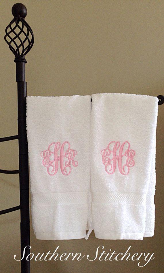 Monogram hand towels monograms pinterest monogrammed