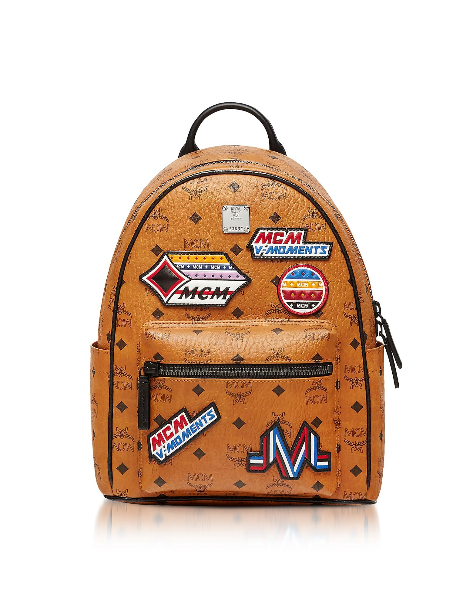 430bea7c1 MCM SMALL COGNAC VICTORY PATCH VISETOS STARK BACKPACK. #mcm #bags  #backpacks #