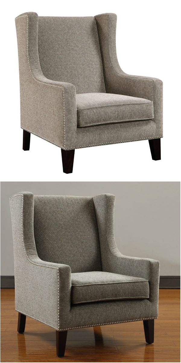 This luxurious modern accent slipper armchair is made with soft linen upholstery and oak wood in weathered natural finish. This chair is simple yet full of character that can definitely enhance any room.