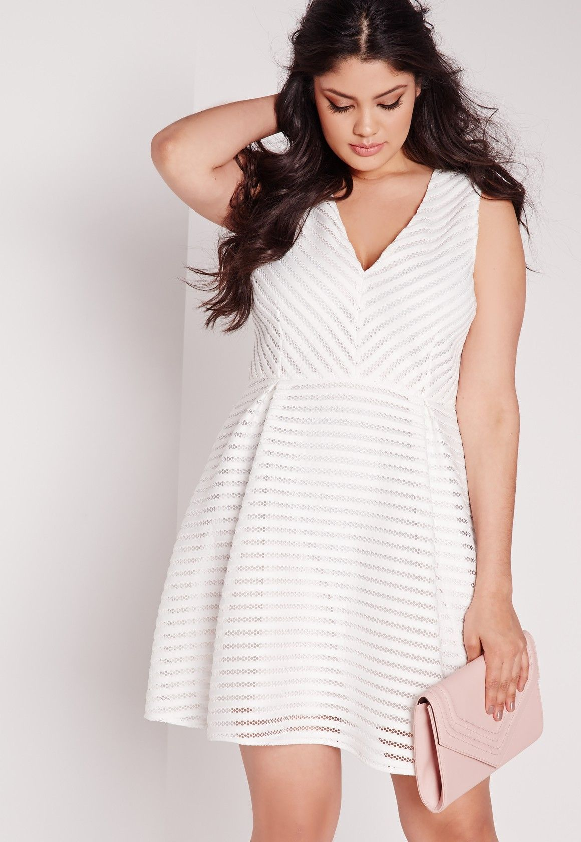 Missguided - Plus Size Skater Wrap Dress White | Dresses and Skirts ...