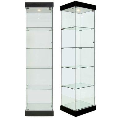 glasvitrine schwarz 180x45x40 f r schmuck home misc. Black Bedroom Furniture Sets. Home Design Ideas