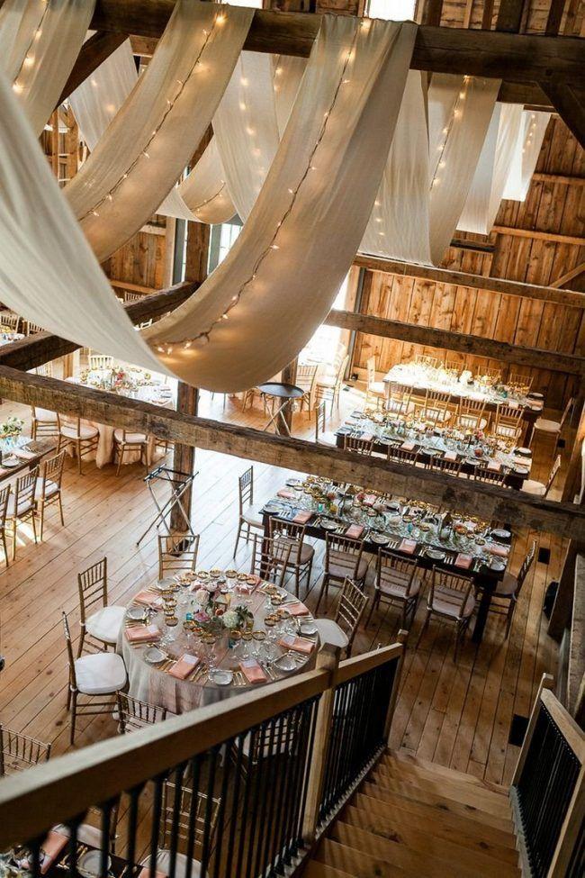 Hochzeitsdeko am Tisch – 30 Ideen für Party in der Scheune #bell