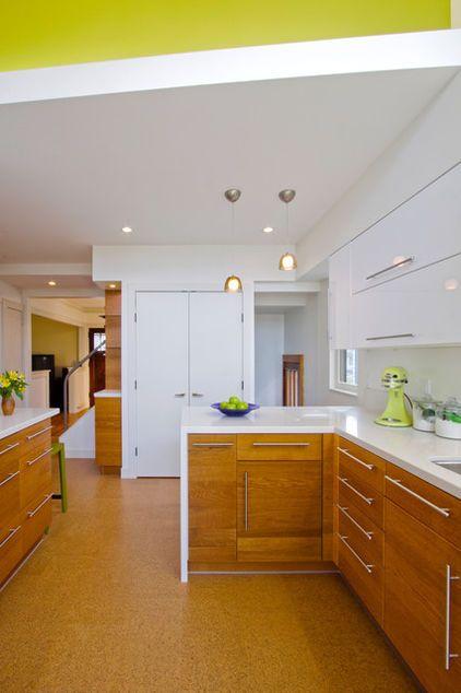 Oak And Cork Contemporary Kitchen By Roehrschmitt Architecture