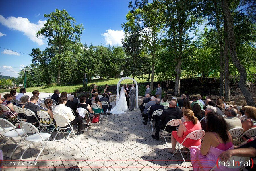 Beautiful outdoor ceremony at Roundtop! #weddings #centralpa Photography by @Natalie Cowgill