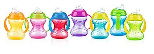 Nuby Two-Handle No-Spill Grip N Sip Cup with Soft Spout Colors May Vary 10 Ounce