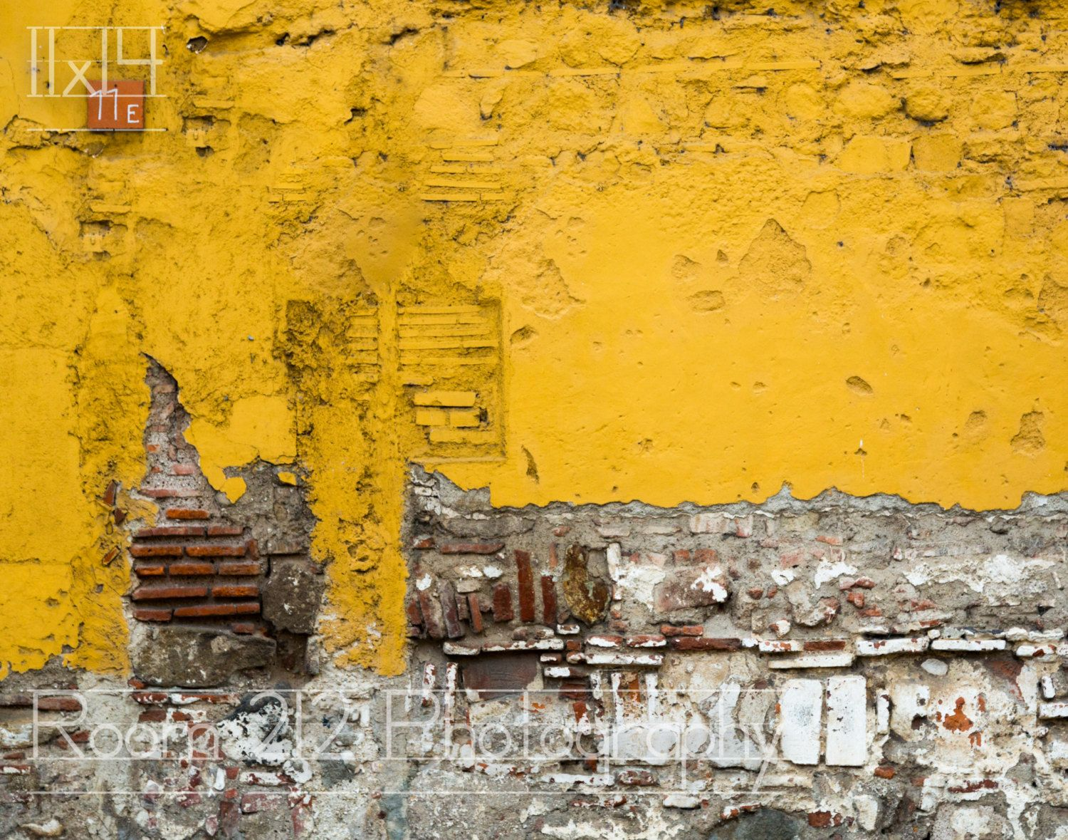 Yellow Mustard Antigua Brick Wall 8x12 or by Room212Photography ...