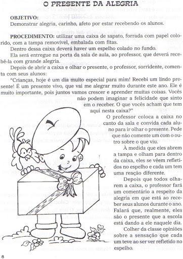 Pedagogiccos Dinamica De Boas Vindas Presente Da Alegria