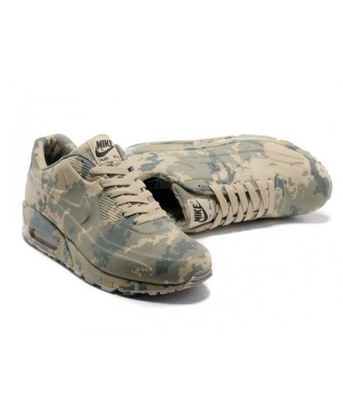 Mens Nike Air Max 90 Camo Light Grey 6809331 140   Tenis e Calça