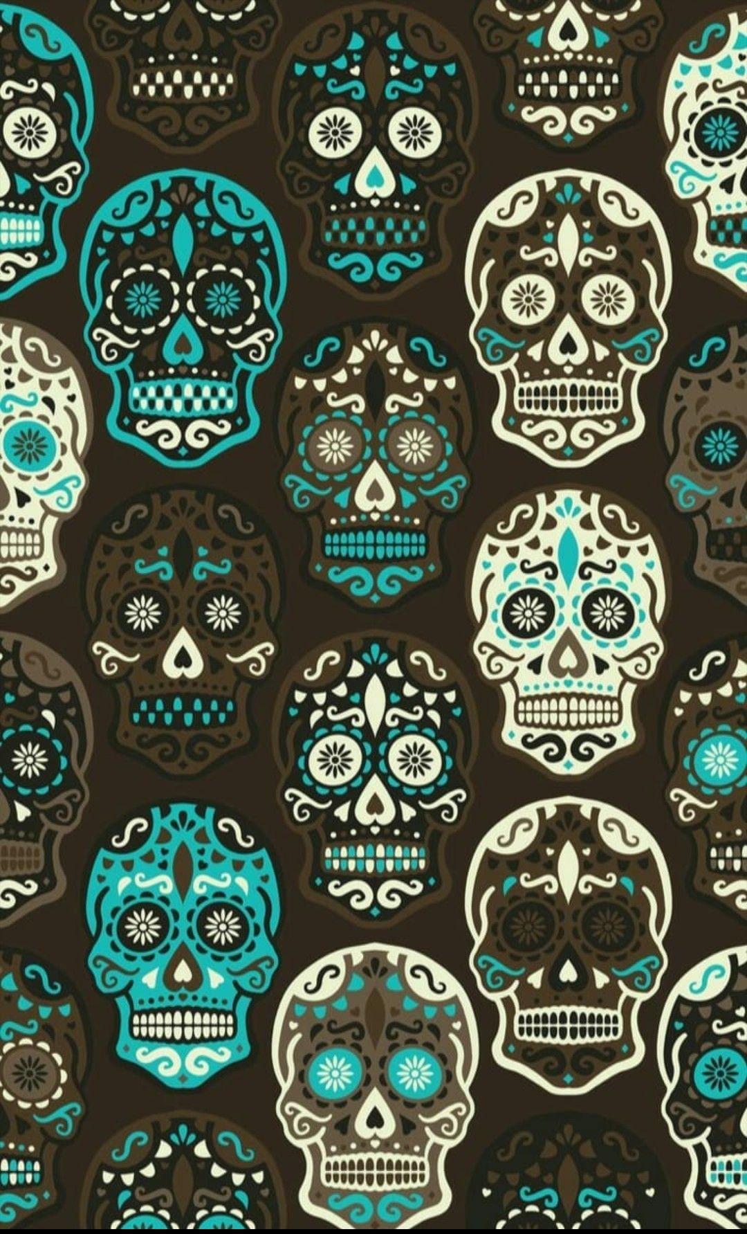 Pin By Missy Cook On Sugar Skulls Skull Wallpaper Art Wallpaper Mexican Art