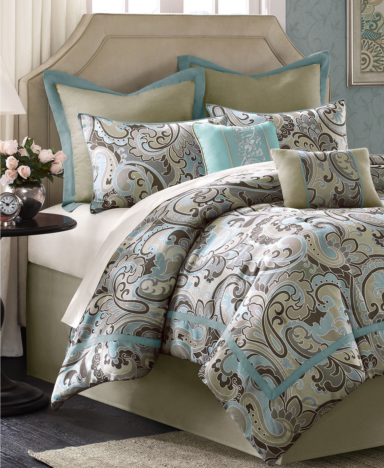 Kensington 8 Piece Comforter Set Bed In A Bag Bed