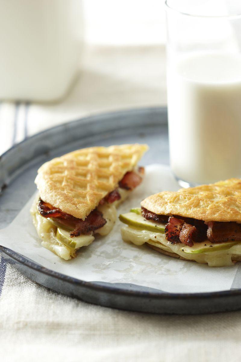 Sweet, Smoky, Tangy Breakfast, Waffle Panini
