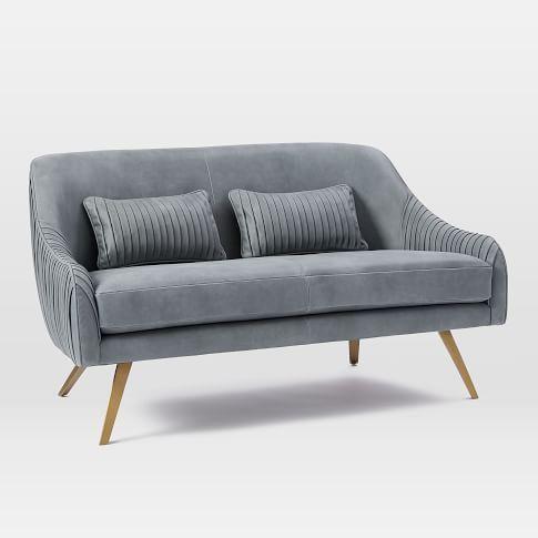 Contemporary Sofas And Loveseats West Elm Sofa Velvet