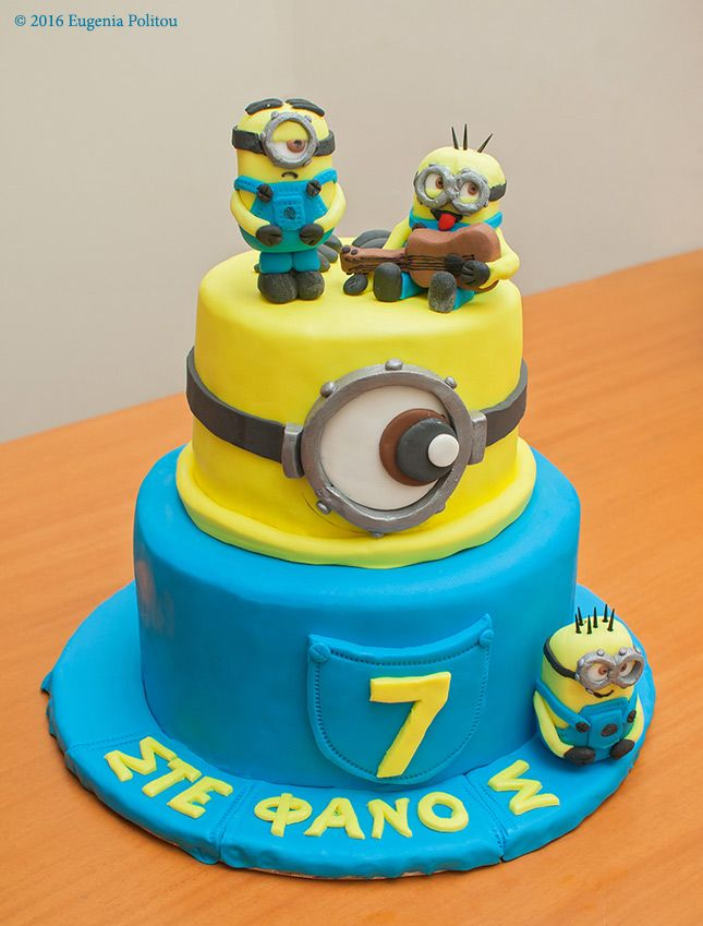 Minion Fondant Birthday Cake For My 7 Year Old