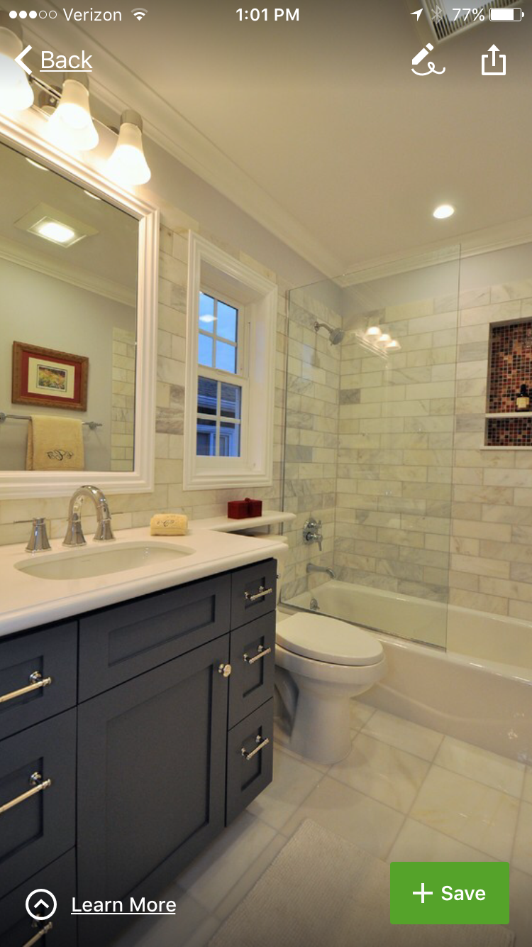 Guest Bath Idea Wall Tile Carrara Marble 4 By 12 Inches Home