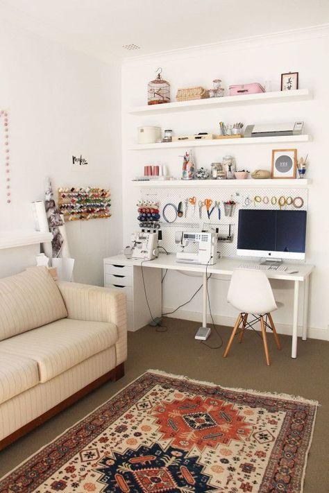 atelier de costura - ateliê de costura em sala de estar #ateliedecostura #atelier #ateliê #atelierdecostura