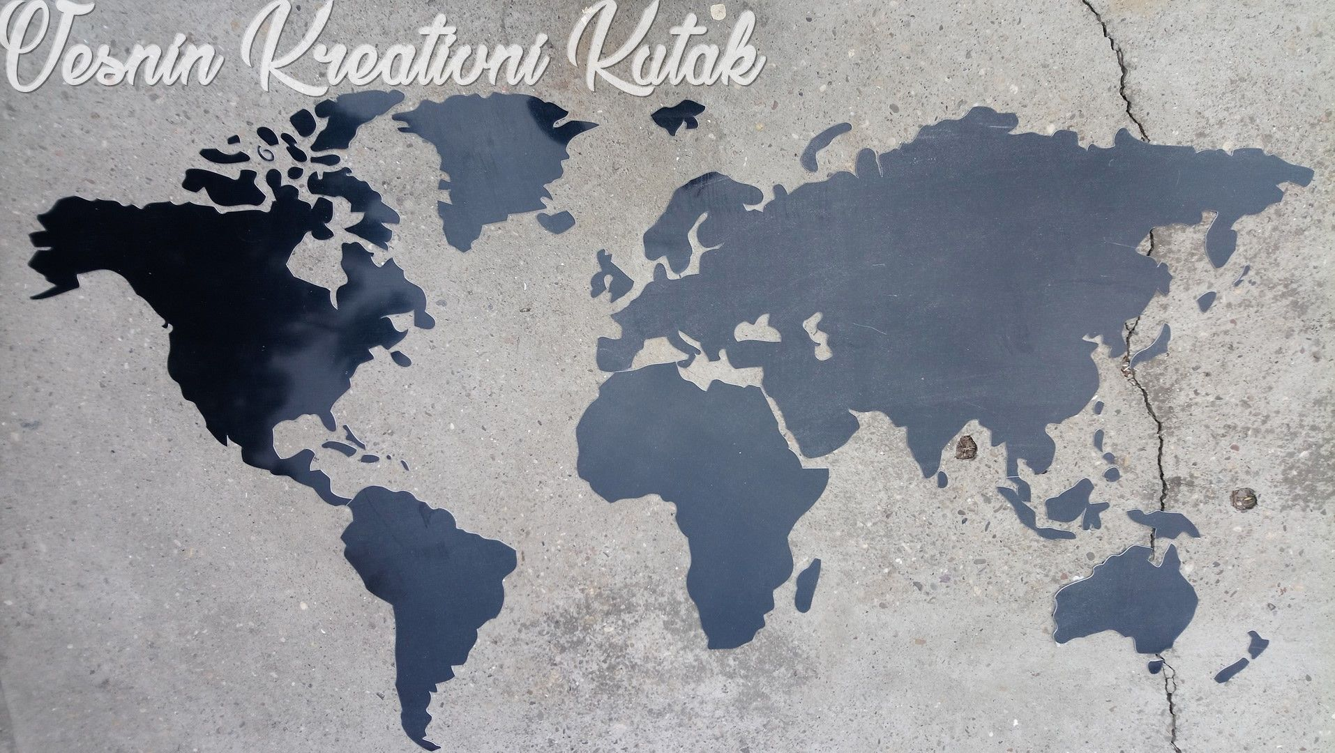 Karta Sveta Kao Zidna Dekoracija A Moze Biti I Zabavan Nacin