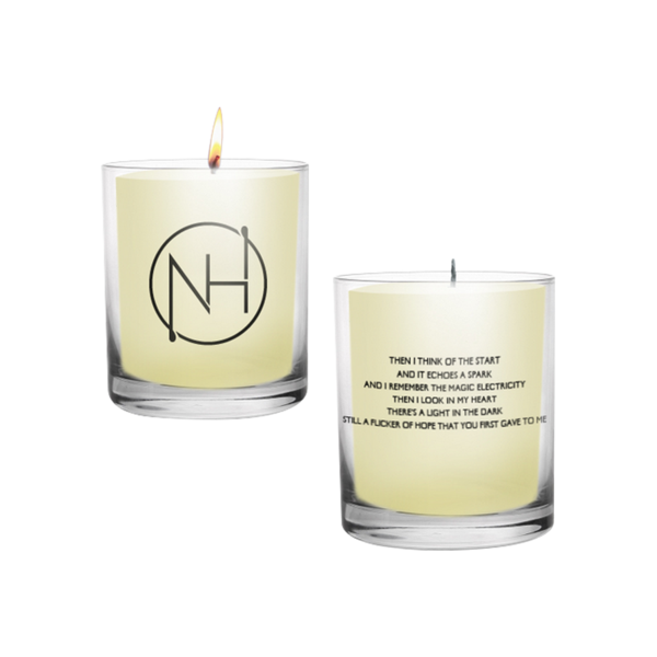 The Niall Horan Logo Vanilla Scented Candle Features Niall S Signature Nh Logo In Black Font On The F Vanilla Scented Candles Candle Wax Scents Scented Candles