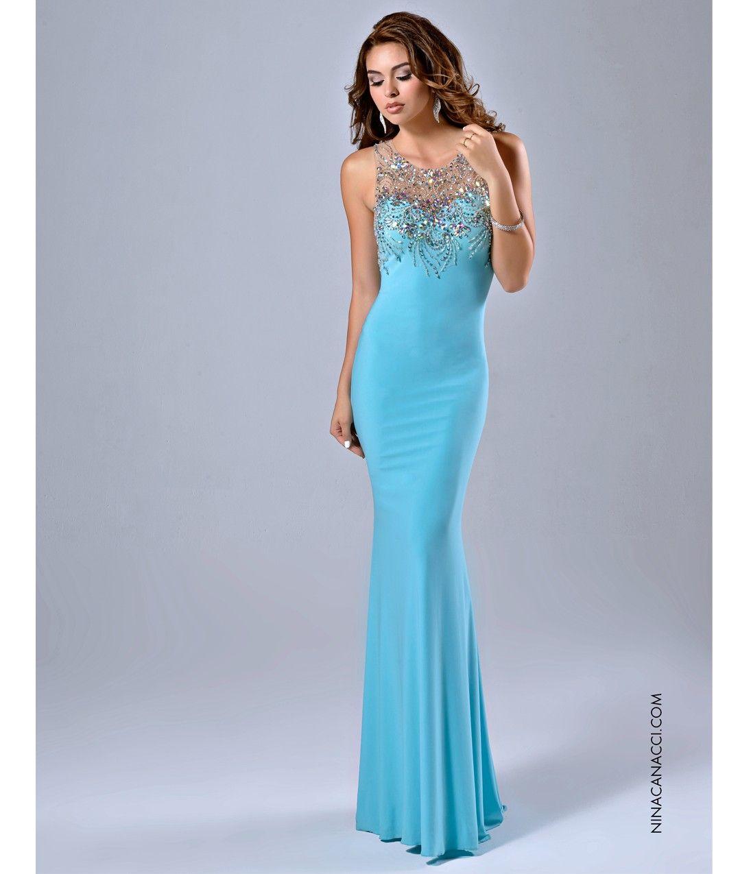 Fitted Aqua Blue Embellished Gown | fashion | Pinterest | Aqua ...