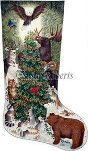8dff67975 Woodland Animals Needlepoint Stocking Canvas
