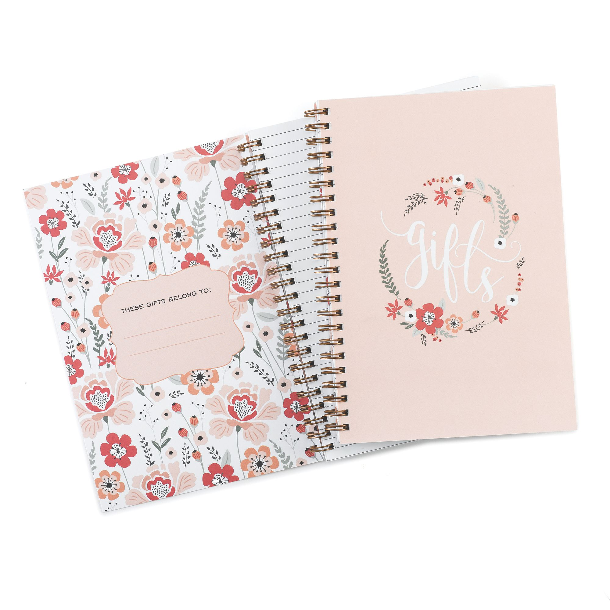 floral frame gift record book guest books