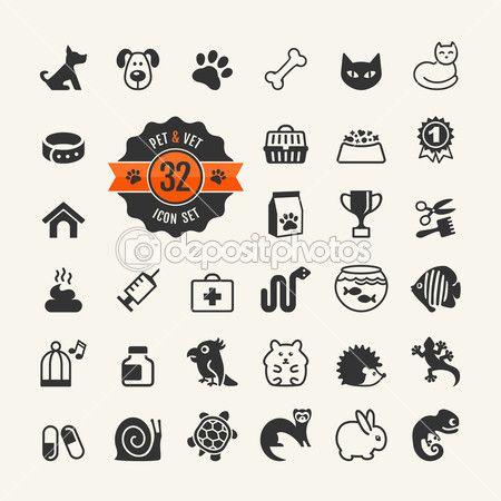 Web Icon Set Pet Vet Pet Shop Types Of Pets Pet Paw Print Pet Shop Pet Paws