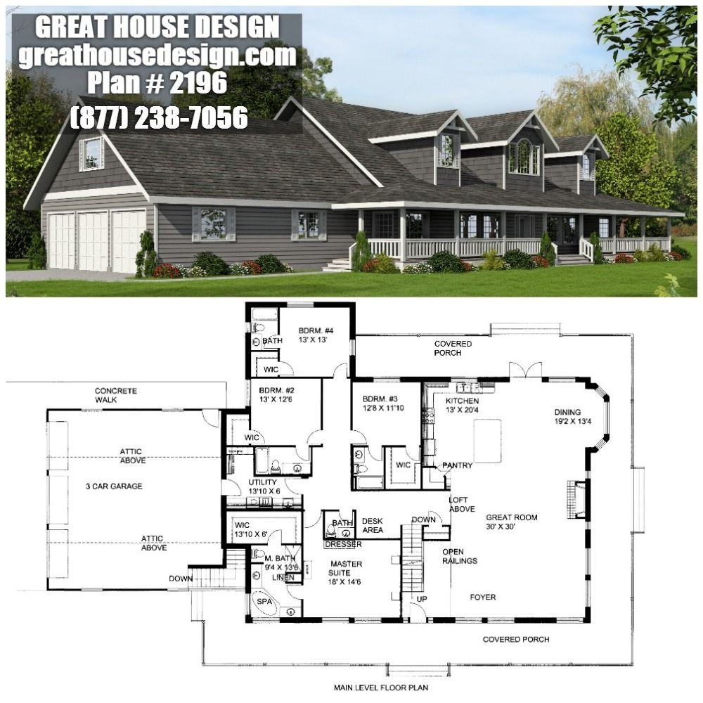 ICF Rancher House Plan 2196 Toll Free 877 238 7056