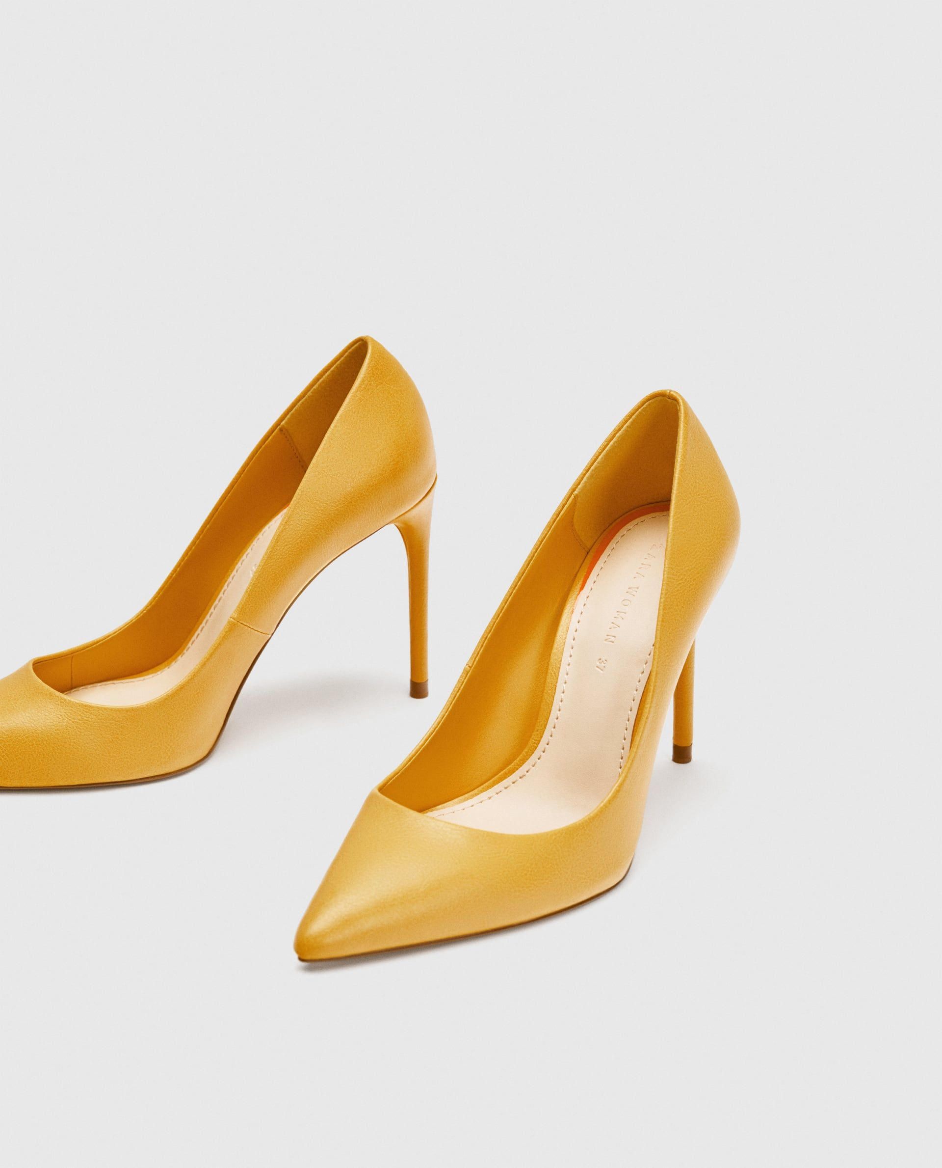 93f48bdf54e Image 5 of YELLOW HIGH HEEL COURT SHOES from Zara