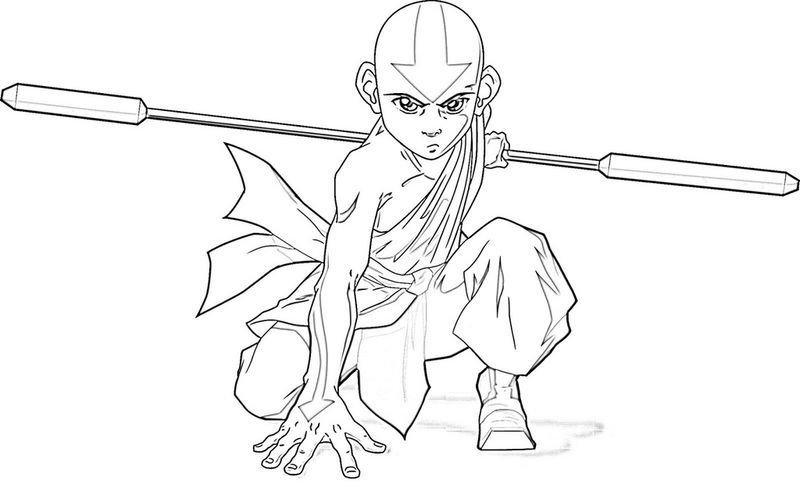 Aang From Avatar Coloring Sheet In 2020 Cartoon Coloring Pages