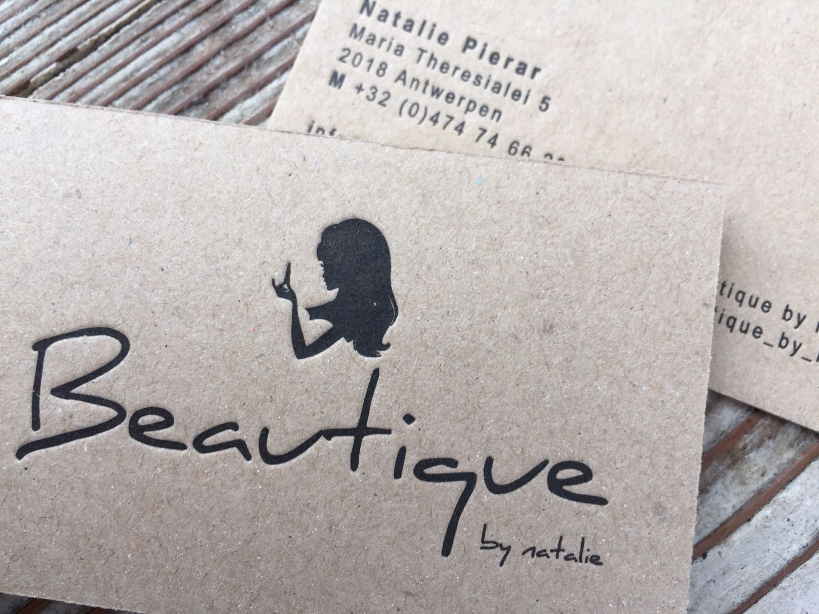 business card boutique macho maradonna paper and black letterpress