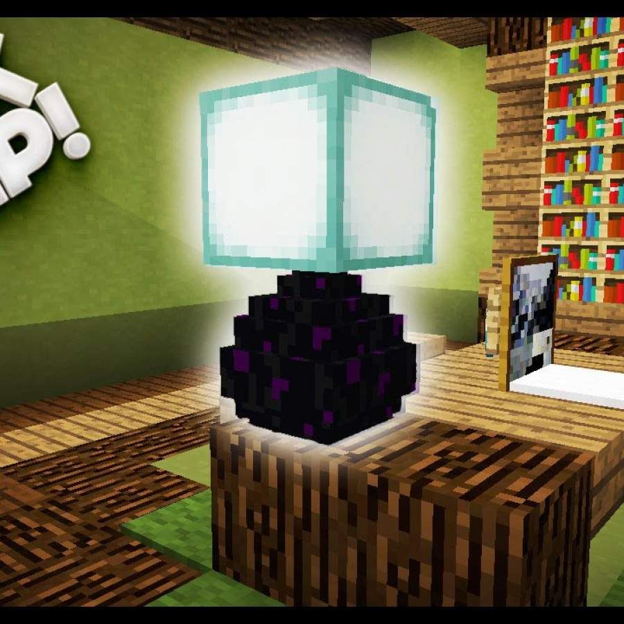 Minecraft How To Make A Desk Lamp Minecraft Tutorial Table Lamp Gives Off Light Current Share Your Minecraft Amazing Decor Minecraft Bedroom Minecraft Tutorial