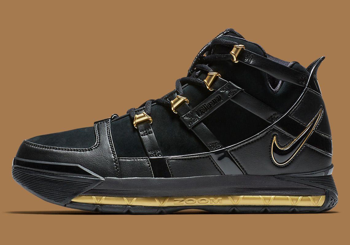 Nike LeBron 3 Retro Black Gold AO2434